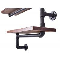 Buy cheap Industrial pipe bookshelf brackets malleable pipe flange and nipple fittings from wholesalers
