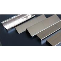 China Stainless steel shaped pieces,U-shaped groove,edging trim,mirror /brushed finish wholesale