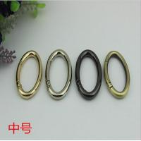China Good Quality Alloy 38 MM Hanging Brush Anti Brass Color Metal O Spring Gate Round Ring wholesale