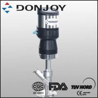 China SS316L Plastic Angle Seat Pnuematic Valve DN50 Panel With C - TOP Clamped wholesale