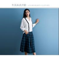 China cotton blue & white gingham dress fashionable n casual wholesale