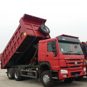 China Sinotruk Heavy Duty 6 Wheel Dump Truck Horsepower 251-350hp Red Color on sale