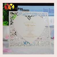 China Brown Laser cut thank you cards with printed words heart shape wholesale