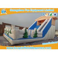 China Funny Jumper Large Wet Inflatable Water Slide Into Pool For Water Amusement / Garden on sale