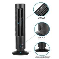 China Creative Household Mini Tower Fan , USB Tower Desk Fan With Manual And Remote Control wholesale