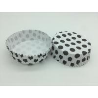 China Round Shape Wedding Black And White Polka Dot Cupcake Liners Greaseless Non Stick wholesale