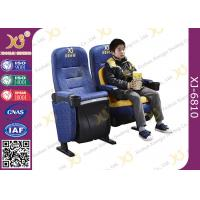 Fixed Seat Design  Cinema Theater Chairs Retractable Central PP Armrest Aluminum Manufactures