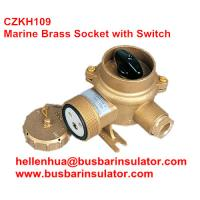 China 10A/16A marine brass socket with chain switch outlet CZKH202 IP56 wholesale