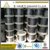 China Good quality 304/316 6*19+fc stainless steel wire rope for tow with cheap price wholesale