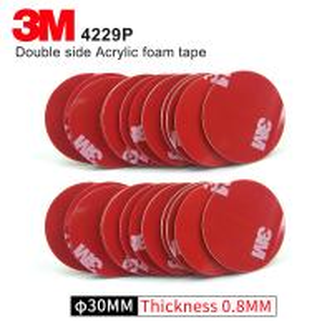 China Double Sided Adhesive Acrylic Foam 3M 4229P Kiss Cut Tape 75MM Circle Gray 3M Automotive Car Tape wholesale