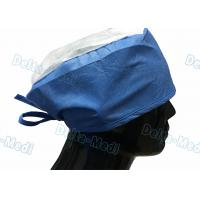 China Doctor' S Disposable Medical Caps With White Crown , Breathable Disposable Operating Room Hats wholesale