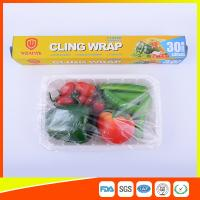 Food Safe Kitchen PE Cling Film Wrap Jumbo Roll For Food Packaging
