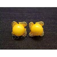 China 925 Sterling Silver 24K Gold Plating Honey Earring on sale