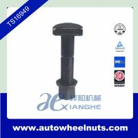 China Steel Forged Truck Wheel Nuts , 99mm Length Bolt / 23mm Length Nut M18 x 1.5 wholesale