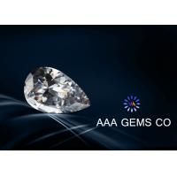 China 1.5 Carat Pear Cut Moissanite Colorless , Lab Created Moissanite wholesale