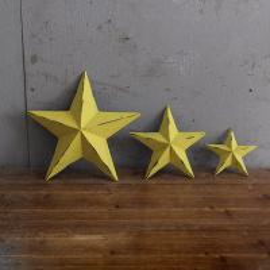 Decorative Nostalgic Outdoor Star Wall Decor Metal Stars For Crafts