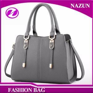 China 2017 New designer European durable custom-made fashion full-grain light grey pu leather female bags women bags on sale