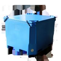 China 640L ROTA Insulated fish box fishtubs food grade high insulation Rotomold Plastic Insulated Fish Container wholesale
