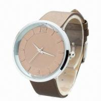 China Hot Popular Bracelet Watch with Plastic Case, PU Leather Strap, Waterproof ATM and Alloy Cover wholesale