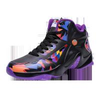 China Non Slip Mens Basketball Sneakers High Neck Shock Absorption Abrasion Resistant on sale