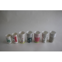 China 230+18pe Green White Hot Drink Single Double Layer Coffee Disposable Paper Cup wholesale