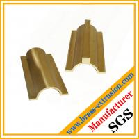 Top quality OEM service solid brass extrusion profiles for electrical parts Manufactures