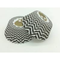 China Zombie Head Black And White Striped Cupcake Liners Single Wall Various Size wholesale
