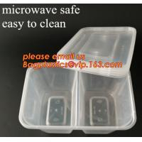 China Disposable Plastic 4 Compartment Food Thermal Lunch Container Box,Plastic Takeaway Food Box with conjoined cover bagease wholesale
