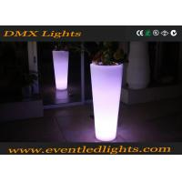 Muti - Colors Illuminated Garden Pots / High Stand Colorful Flower Pots For Private Courtyard Manufactures