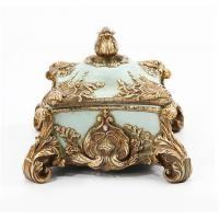 China Baroque Antique French Jewelry Box , Rectangle Jeweled Trinket Boxes wholesale