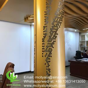 China Metal   Bending Aluminum Column Covers , Aluminum Column Cladding  2.5mm Thickness  Facade Decoration wholesale