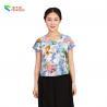 China V Neck Original Chinese Style Blouse Customized Modified Shirts For Ladies wholesale