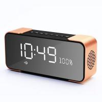 China Alarm Clock display Portable Wireless Speaker with FM Radio Bluetooth speaker with goof quality wholesale