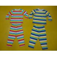 China Comfy Multi Striped Kids Pajama Sets , Toddler Boys Winter Pajamas Private Label wholesale