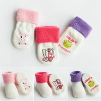 China Custom logo, design cute babes pure cotton non-slip socks wholesale