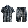 China Anti Pilling Mens Luxury Sleepwear Woven Cotton Poplin Yarn Dyed Pajamas Shorts wholesale