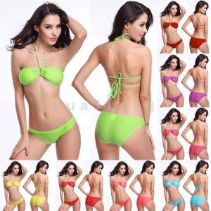 China Strappy Sexy Swimsuit Swimwear Bathing Monokini Push Up Padded Bikini wholesale
