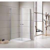 Quality Small Bathrooms Square Shower Stalls / Shower Cubicle 5mm Thickness Doors for sale