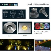 CE&ROHS 316 Stainless Steel Low Power RGB Round or Square LED Underground Lights Manufactures