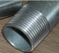 China zinc coated 250g galvanized steel pipe threaded with plastic caps wholesale