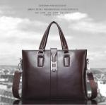 2017 Men Casual Briefcase Business Shoulder Bag Leather Messenger Bags Computer