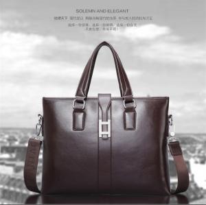 Quality 2017 Men Casual Briefcase Business Shoulder Bag Leather Messenger Bags Computer for sale