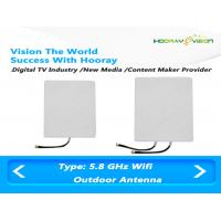 Outdoor high gain 23dbi patch wifi 5.8 Ghz  Digital TV Antenna  for Signal Amplifier Manufactures