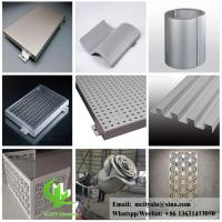 Buy cheap perforated aluminum sheet for facade wall cladding panel exterior building cover from wholesalers
