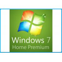 China 32 / 64 Bit Win 7 Professional Key  / Windows 7 Home Premium Key Builder DVD Oem Pack on sale