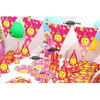 China Popular Smile Face Theme disposable tableware set birthday party decoration party supplies wholesale