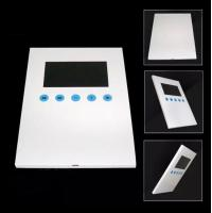 "China 4.3"" Lcd Video Booklets / Invitation Video Card With Sensor , Super Matt Lamination Blank Cover wholesale"