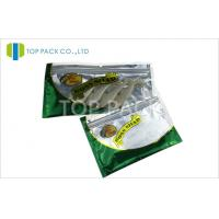 China Zipper Top Aluminum Foil Fishing Lure Packaging Bag With Clear Window wholesale