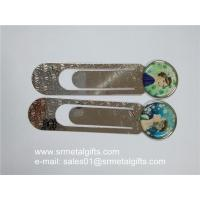 China Clear epoxy coated steel bookmarks, print epoxy coating metal bookmarks factory wholesale