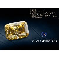 China High Hardness Yellow Colored Moissanite , Radiant Cut Moissanite wholesale